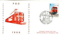 14169030 Belgique  19690413 Bx; Journée Du Timbre, Train Postal ; Fdc Cob1488 - FDC