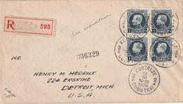 BELGIQUE 1926 LETTRE RECOMMANDEE DE COURTRAI AVEC CACHET ARRIVEE DETROIT - Belgium