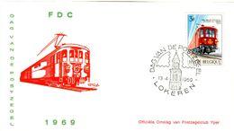 14169033 Belgique  19690413 Lokeren; Journée Du Timbre, Train Postal ; Fdc Cob1488 - FDC