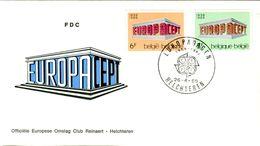 14169036 Belgique  19690426 Hechteren; Europa, CEPT Conf. Adm. Postes ; Fdc Cob1489-1490 - FDC