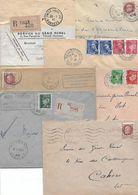 Env.(7) -  Dépt Corrèze - Marcophilie (Lettres)