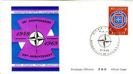 14169051 Belgique  19690531 Bx; OTAN NAVO ; Fdc Cob1496 - FDC
