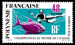 POLYNESIE 1969 - Yv. PA 29 **   Cote= 52,00 EUR - Championnats Du Monde De Chasse Sous-marine  ..Réf.POL25137 - Poste Aérienne