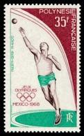 POLYNESIE 1968 - Yv. PA 26 ** SUP  Cote= 20,00 EUR - Jeux Olympiques De Mexico  ..Réf.POL25134 - Oblitérés