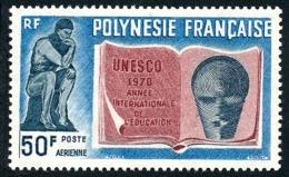 POLYNESIE 1970 - Yv. PA 39 ** SUP  Cote= 22,00 EUR - Année Intern. De L'alphabétisation  ..Réf.POL25142 - Oblitérés