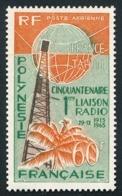 POLYNESIE 1966 - Yv. PA 16 ** SUP  Cote= 23,50 EUR - Cinquantenaire 1ère Liaison Radio  ..Réf.POL25125 - Oblitérés