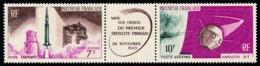POLYNESIE 1966 - Yv. PA 18A ** SUP  Cote= 15,00 EUR - Tryptique 1er Satellite Français  ..Réf.POL25126 - Oblitérés