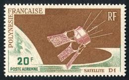 POLYNESIE 1966 - Yv. PA 19 ** TB  Cote= 8,50 EUR - Satellite D1  ..Réf.POL25127 - Oblitérés