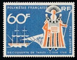POLYNESIE 1968 - Yv. PA 23 ** TB  Cote= 12,50 EUR - Découverte De Tahiti - Cook  ..Réf.POL25131 - Oblitérés