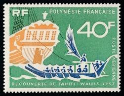 POLYNESIE 1968 - Yv. PA 22 ** TB  Cote= 9,20 EUR - Découverte De Tahiti - Wallis  ..Réf.POL25130 - Oblitérés