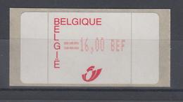 Belgien Amiel-ATM Postembleme ** Wert 16,00 BFr.  - Postage Labels