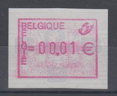 Belgien FRAMA-ATM Dauerausgabe Postembleme 2002, Glänzende Gummierung **  - Postage Labels