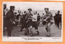 Dorando Italy Marathon UK 1908 Postcard - Athletics