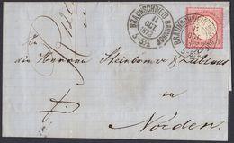 BRUSTSCHILD Nr.19 Brief Sauberer Braunschweig-K2 BRAUNSCHWEIG BAHNHOF Nach Norden (bb20) - Brieven En Documenten