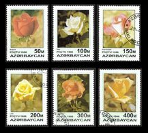 AZERBAIDJAN  1996 - YT  282 à 287  -  Roses  La Série Complète - Azerbaïjan