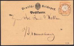 BRUSTSCHILD Nr.18 Karte Sauberer Braunschweig-K2 HELMSTEDT Nach Braunschweig Geprüft Sommer BPP (bb20) - Briefe U. Dokumente
