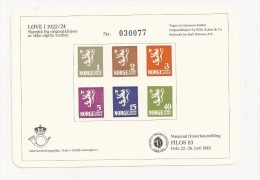 1983 Norway Exhibition Sheetlet, (not Valid For Postage), Filos 83 - Prove E Ristampe
