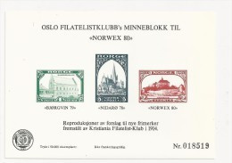 1980 Norway Exhibition Sheetlet, (not Valid For Postage), Norwex - Prove E Ristampe