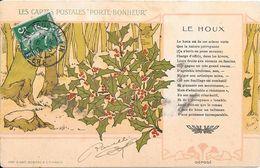 """1908 - LES CARTES POSTALES """" PORTE BONHEUR"""" - LE HOUX - Contes, Fables & Légendes"""