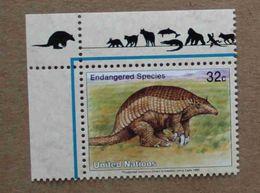 NY95-01 : Nations-Unies (New-York) / Protection De La Nature - Priodontes Maximus (Tatou Géant Ou Cabassou) - Unused Stamps