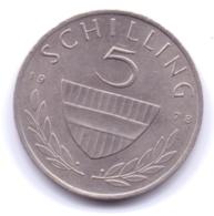 AUSTRIA 1978: 5 Schilling, KM 2889a - Autriche