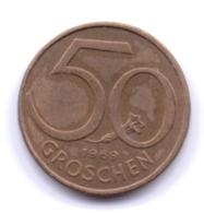 AUSTRIA 1969: 50 Groschen, KM 2885 - Autriche