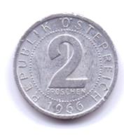 AUSTRIA 1966: 2 Groschen, KM 2876 - Autriche