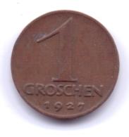AUSTRIA 1927: 1 Groschen, KM 2836 - Autriche