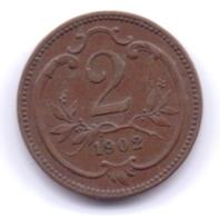 AUSTRIA 1902: 2 Heller, KM 2801 - Autriche