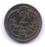 AUSTRIA 1897: 2 Heller, KM 2801 - Autriche