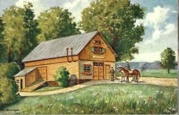 Deux Cavaliers Militaires Devant Une Maison (signée BRUNSTEIN) - Other Illustrators