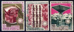 CAMEROUN  - N° A103/105° - EXPOSITION INTERNATIONALE DE MONTREAL - Camerun (1960-...)