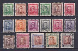 NEW ZEALAND 1938/47, SG# 603-609, 680-689, King George VI, Used - Usati