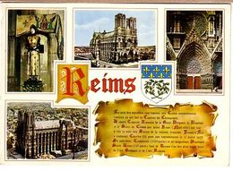 Reims 4 Vues , Cathédrale , Historique Et Blason - Histoire