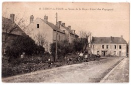 Cercy-la-Tour - Sortie De La Gare - Hôtel Des Voyageurs - édit. P. Coqueugniot 19 + Verso - France