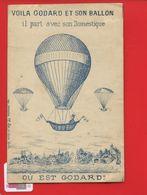 Chromo Question Devinette OPTIQUE OU EST GODARD Ballon Aerostat Domestique  Imp Lemaine Paris - Other