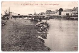 Cercy-la-Tour - Le Canal Et Vue Générale - édit. J.C. Coqueugniot 8 + Verso - France