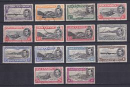 ASCENSION 1938/53, SG# 38-47, CV £100, Part Set, Nature, Used - Ascensione