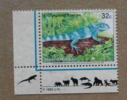 NY95-01 : Nations-Unies (New-York) / Protection De La Nature - Brachylophus Fasciatus (L'iguane Des Fidji) - Unused Stamps
