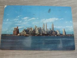 1 CPA NEW YORK LOWER MANHATTAN SKYLINE 1957 - Multi-vues, Vues Panoramiques