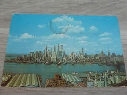 1 CPA NEW YORK LOWER MANHATTAN SKYLINE 1970 - Multi-vues, Vues Panoramiques