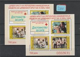 Mazedonien   Postfrisch**  2x  MiNr. Block 7A - Macédoine