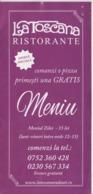 Menu - La Toscana - Italian Restaurant - 6 Pages - Menus