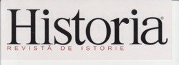 Adhesive Sticker - Historia Magazine - 207/75 Mm - Vignettes Autocollantes