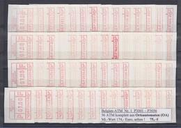 Belgien FRAMA-ATM Nr. 1 P3001-P3056 Je Eine ATM 01,00 ** Aus Ortsautomat OA !!! - Postage Labels