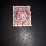 """FO08 NORVEGIA 1921-29 CORNO DI POSTA 5 ORE """"O"""" - Norvegia"""