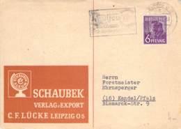 Werbekarte Schaubeck Verlag 1947 Leipzig - Kandel - Zona AAS