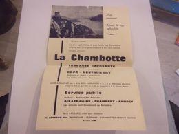 DEPLIANT PUBLICITE 73 SAVOIE LA CHAMBOTTE ST GERMAIN AIX LES BAINS  LANSARD - Reiseprospekte