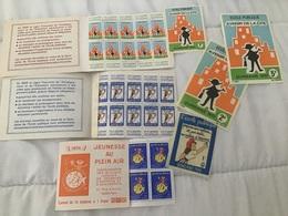 École Publique 1972, 1973 2 Carnets 10 Timbres 0,5f, 3 Autocollants à 1,2,5F + Carnet Jeunesse 75 - Commemorative Labels