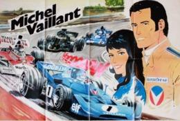 "POSTER "" MICHEL VAILLANT  "" Supplement Au TINTIN  N° 57  De 1974 - Spirou Magazine"